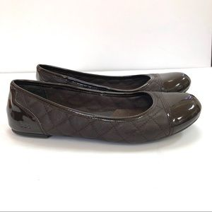 b.o.c. 8.5 Medea Quilted Flats Dark Brown Patent